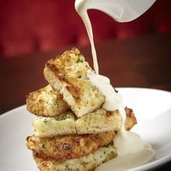 GARLIC BREAD with Maytag Bleu Cheese Fondue Michael Jordan's Steakhouse Restaurant Recipe Garlic Butter: 1 pound butte r, softene...