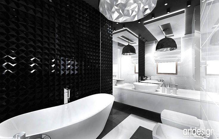 Łazienka inspirowana diamentami! Prezentuje się naprawdę pięknie!