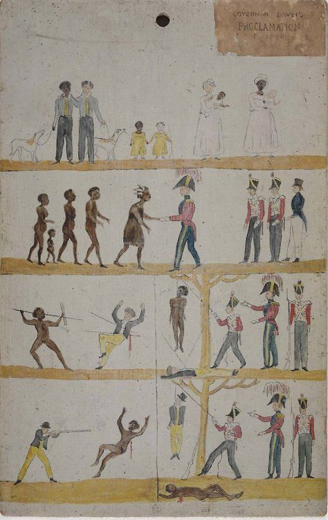 """""""Governor Davey's [sic] Proclamation to the Aborigines, 1816 [sic]"""" Notice drawn…"""