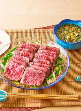 牛もも肉ステーキ夏の香味野菜ポン酢ソース by イオン [クックパッド ...