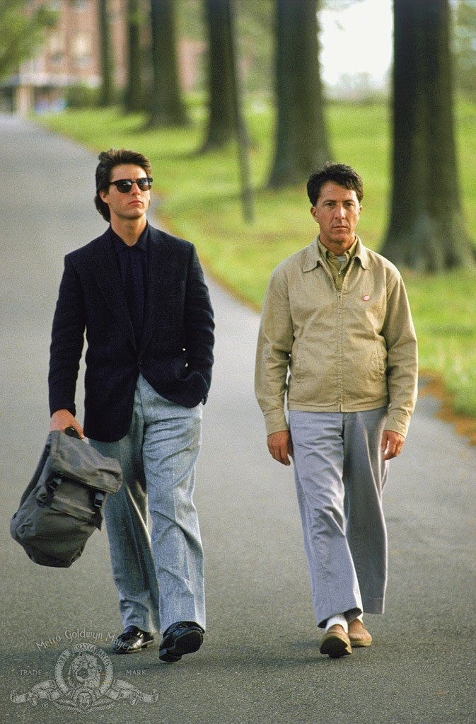 Tom Cruise and Dustin Hoffman in Rain Man, 1988