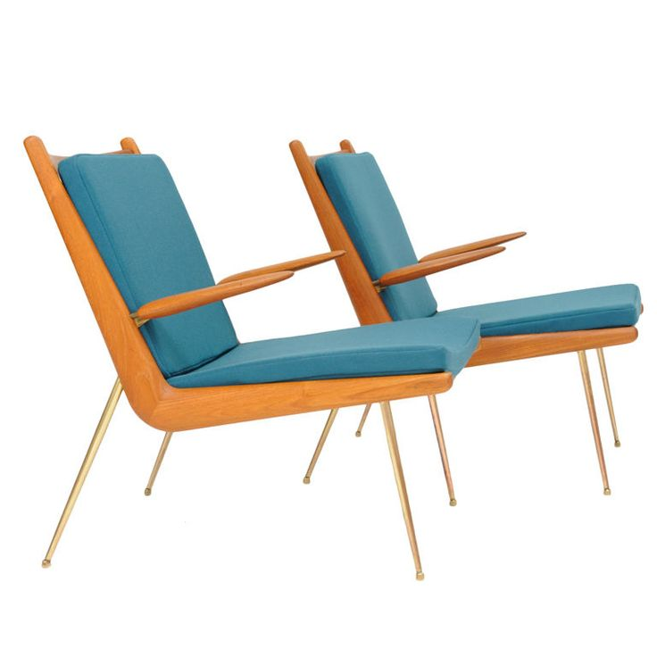 peter hvidt & orla molgaard, chairs for france & sons (denmark, 1958)
