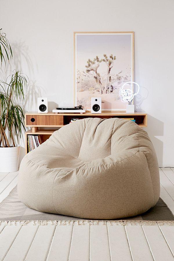 Larson Soft Lounge Chair Bean Bag Living Room Girl Bedroom Decor Home Decor