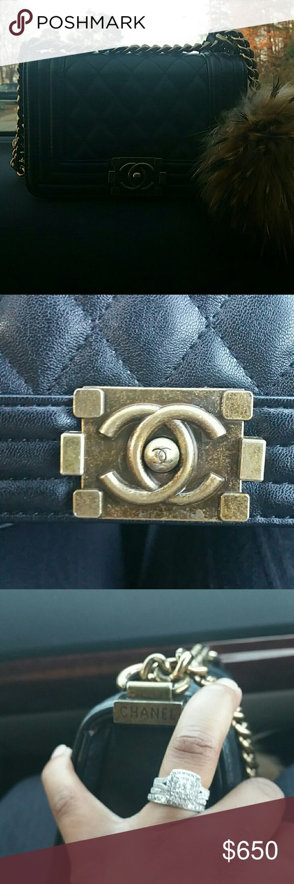 CHANEL Chanel price reflects that this purse is not authentic. Perfect Condition. Great Quality, comes with authenticity card. FUR BALL NOT INCLUDED CHANEL Bags Mini Bags
