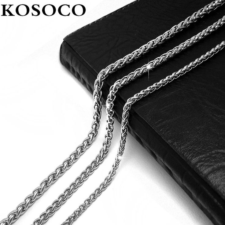 Серебряная цепочка дружба себе пару ожерелья свободного покроя / спортивный титана стали звена цепи все-матч женщины мужчины ювелирные изделия KSC402