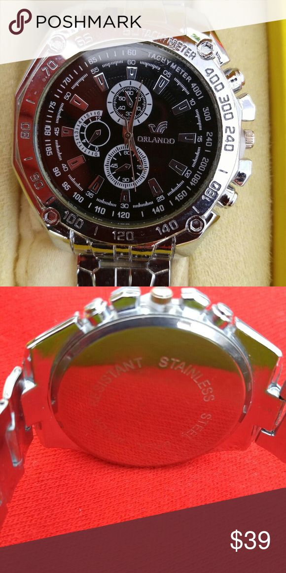 Mens WATCH Very nice men's dress watch chronograph like new condition no box or tags it's never been worn a fraction of the price and new Orlando Accessories Watches