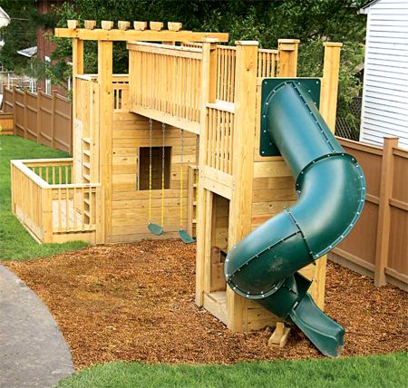 207 best images about diy playground ideas on pinterest for Playground building plans