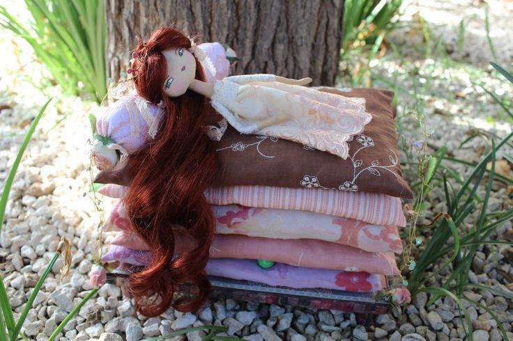 The Princess and the Pea, cloth doll, art doll, OOAK, doll and bed by MarieArtDolls on Etsy https://www.etsy.com/listing/267083215/the-princess-and-the-pea-cloth-doll-art