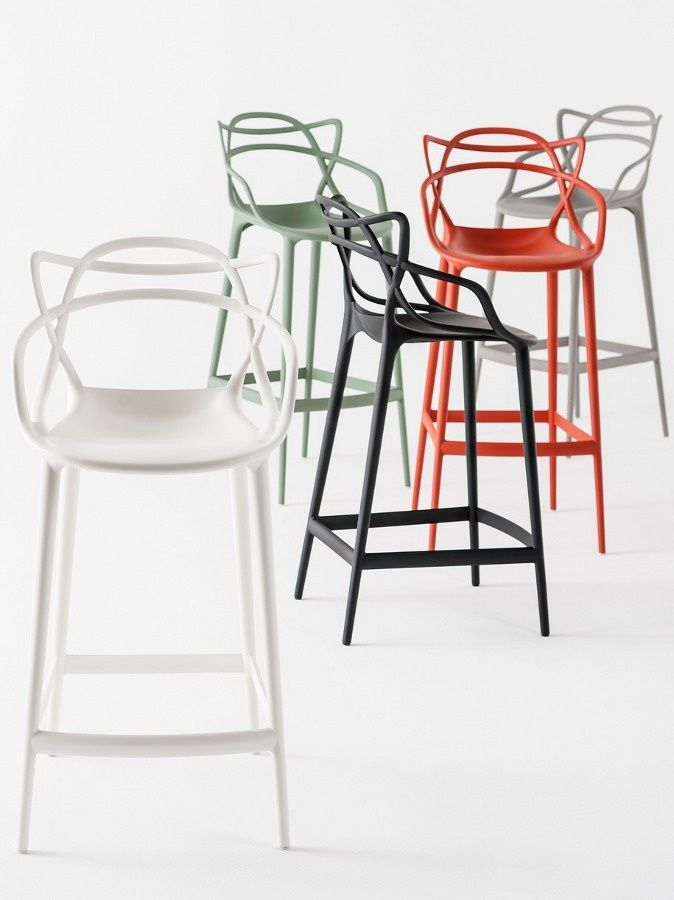 Masters Bar Chair   H 65 Cm   Metallized Titanium By Kartell   Design  Furniture And Decoration With Made In Design
