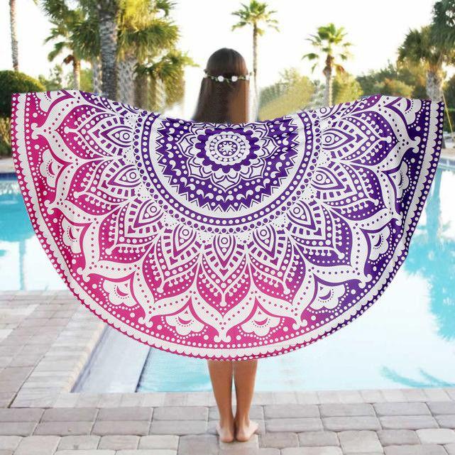 round beach towel Swimming Towel Travel blanket Bath Towel beach towel mandala Serviette Ronde Toalla Playa #2017