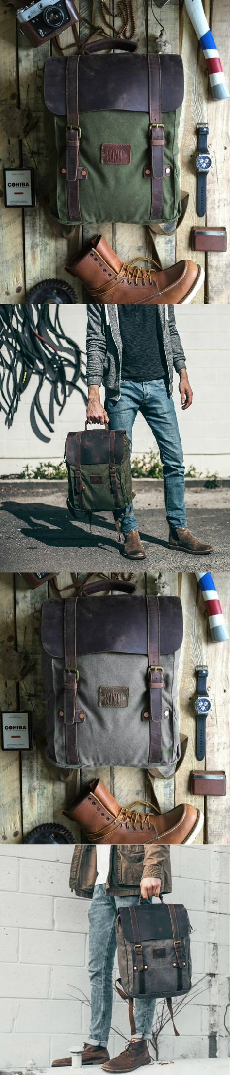 "Introducing, ""Leo"" our handcrafted backpack/rucksack that is skillfully created from the best materials around. Whether you are vacationing to Europe, backpacking through your local national forest, o"