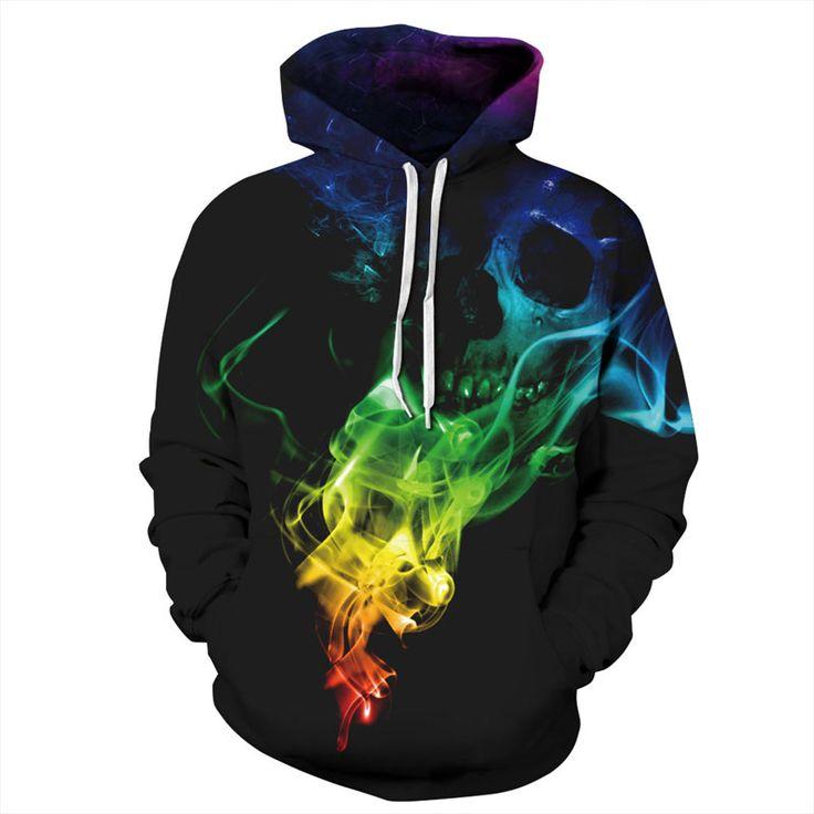 Top Designed Men/Women 3D Printed Colorful Smoke Skulls Hoodie //Price: $39.45 & FREE Shipping //     sweatshirts