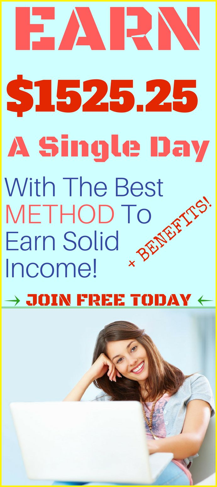 This is really smart idea of how to make money online in 2017 ! I've always wanted a work from home job.Here is the best way to make money online and earn $1525.25 Per Day! Click the the pin to Join and see how >>>