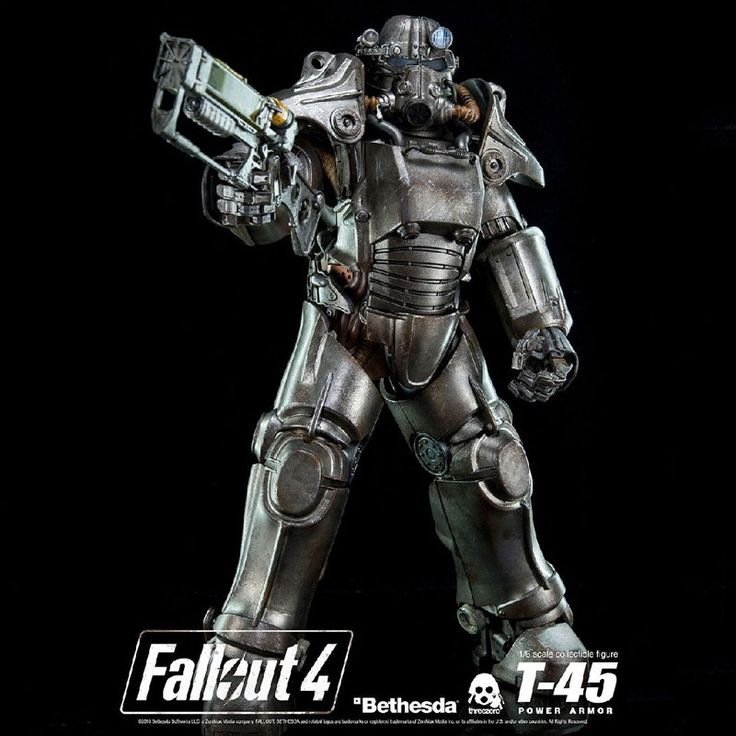 "Fallout 4 T-45 POWER ARMOR Collectible 14.5"" Action Figure 1/6 Scale"
