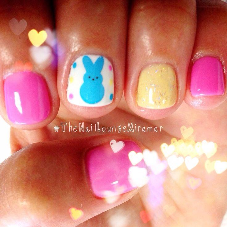 Peeps, easter, nail art