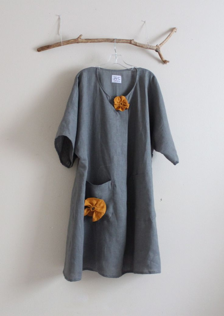 gray linen with autumn gold flowers linen dress https://www.etsy.com/listing/151778673/plus-size-gray-linen-with-autumn-gold?ref=shop_home_active