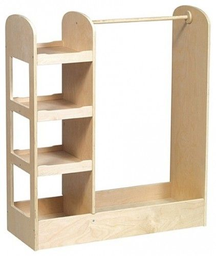 Use a piece like this to make a dress-up spot for a play zone. I like that this one has a hanging rod as well as shelves for shoes, hats, masks and other props.