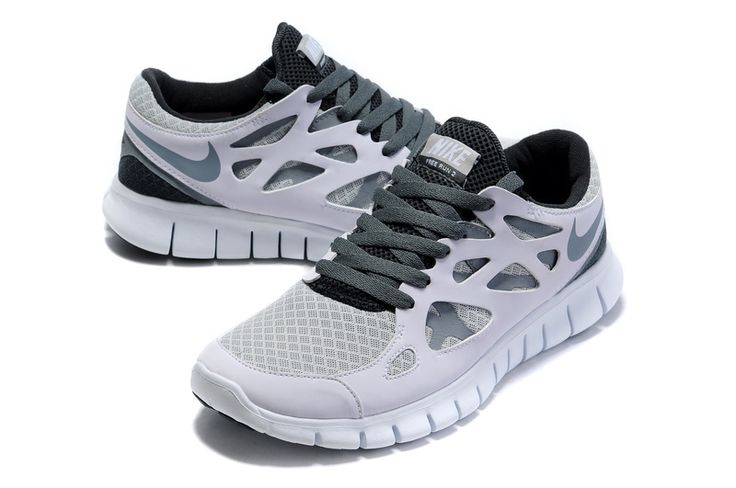 Nike Free Run 2 Kvinner Hvit Grå