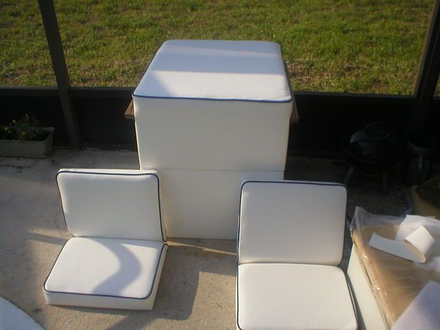Picture of Making new marine vinyl boat seats
