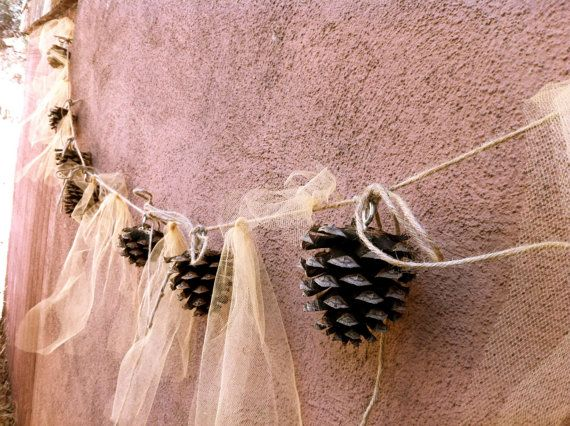 Rustic wedding decorations, pine cone wedding, pine cone, wedding decorations, fall wedding, winter wedding,. $25.00, via Etsy.