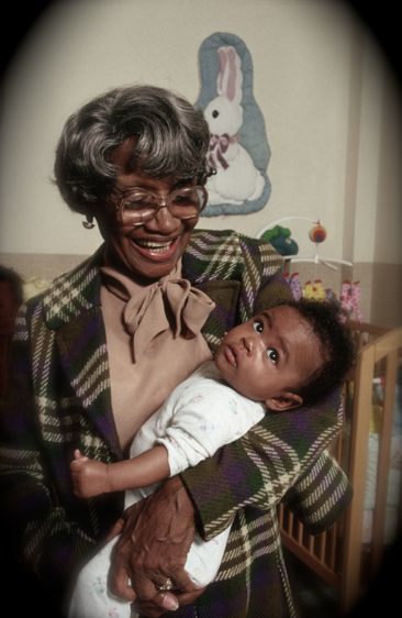 """cartermagazine:  Today In History 'Clara """"Mother"""" Hale, humanitarian who founded the Hale House, a sanctuary for drug-addicted and HIV/AIDS-infected babies in Harlem, NY, was born in Philadelphia, PA, on this date April 1, 1905.' (photo: Clara Hale) - CARTER Magazine"""