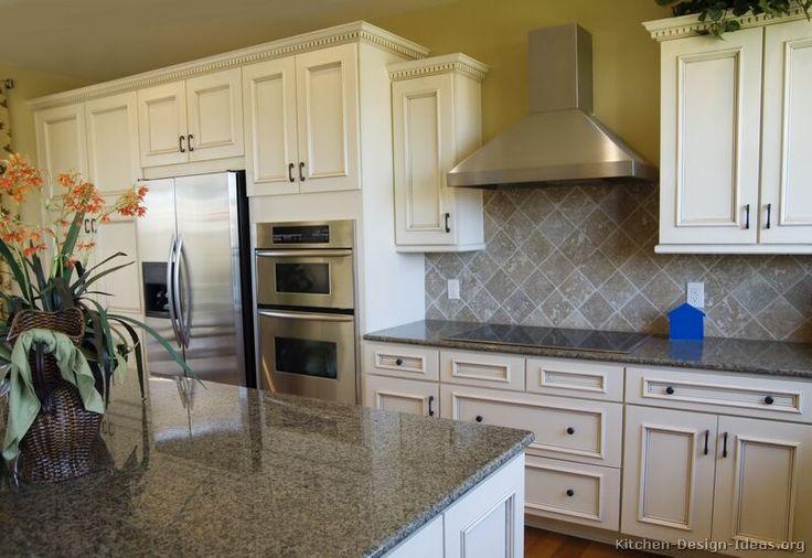 white kitchen | ... of Kitchens - Traditional - Off-White Antique Kitchens (Kitchen #5