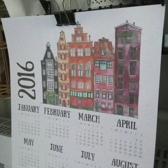 New 2016 wall calendars :) Amsterdam houses!