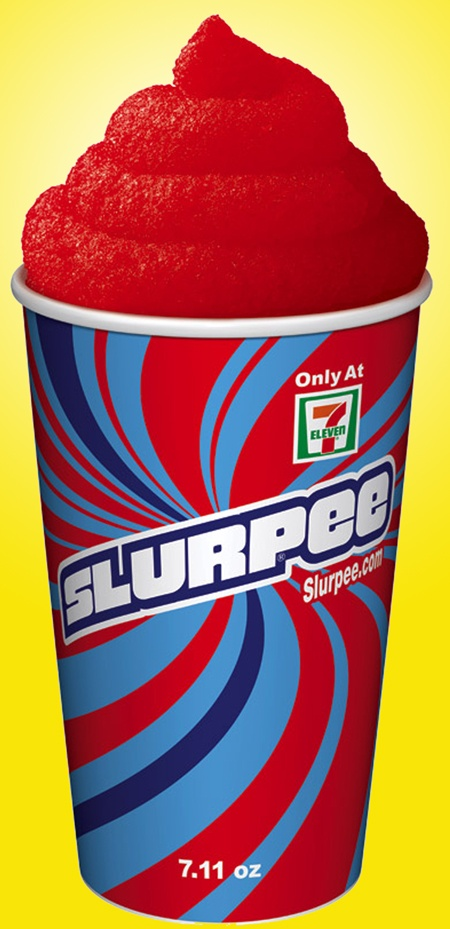 7-11 Slurpee . We would stop and get one of these after Dad's ball games once a week. Unless he played a 10:00 game and we were bummed when we drove by a few minutes after 11 and it was closed.