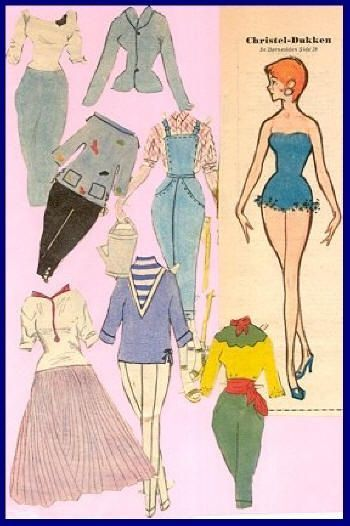 1 * 1500 free paper dolls from artist Arielle Gabriel The International Paper Doll Society for Pinterest paper doll pals *