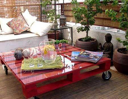 мебель для сада из поддонов