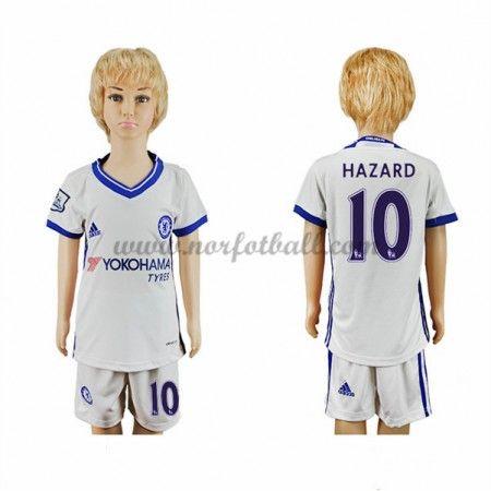 Billige Fotballdrakter Chelsea 2016-17 Hazard 10 Barn Tredje Draktsett Kortermet