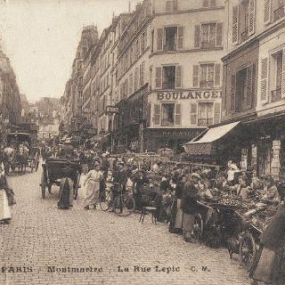 Rue Lepic Paris 1900