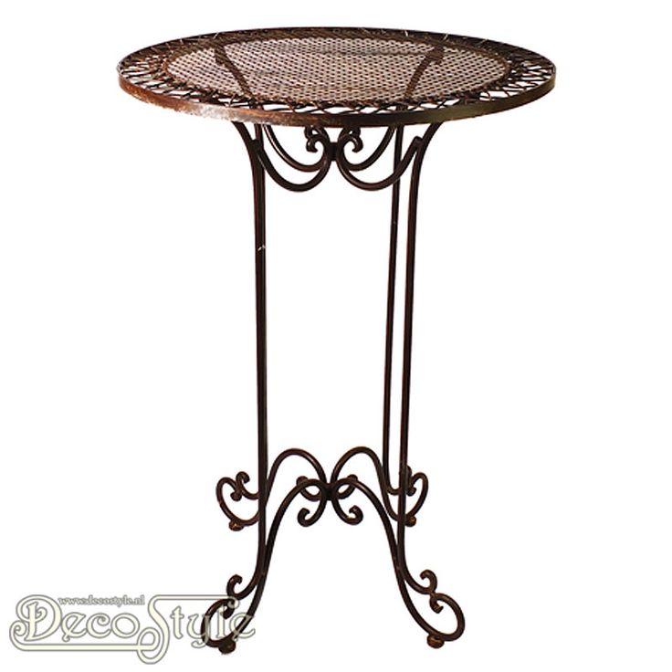 Metalen Bar Tafel Rond Bruin  Zeer stevige metalen tafel met rond blad. Het blad is voorzien van een metalen raamwerk. Deze tafel is zowel binnen als buiten te gebruiken. Het metaal is bewerkt zodat deze weersbestendig is. Materiaal: Metaal Kleur: Bruin Afmetingen: Hoogte: 106 cm Breedte: 70 cm Diepte: 70 cm METAL FOLDING BAR TABLE BROWN