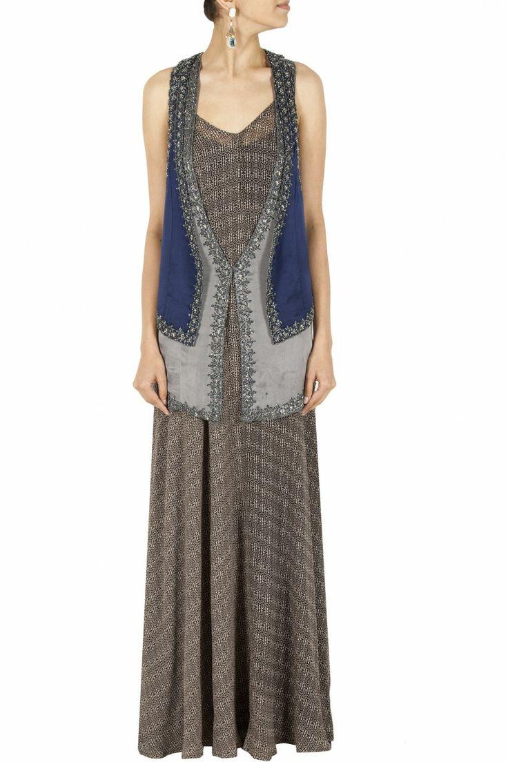 Anushka Khanna Blue embroidered waistcoat