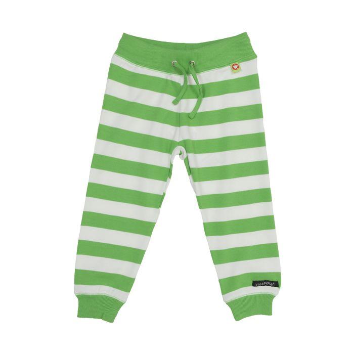 Villervalla kids clothing - pants STRIPES AVOCADO