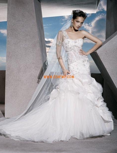 Tulle Glamorous  Dramatic Sleeveless Wedding Dresses 2013