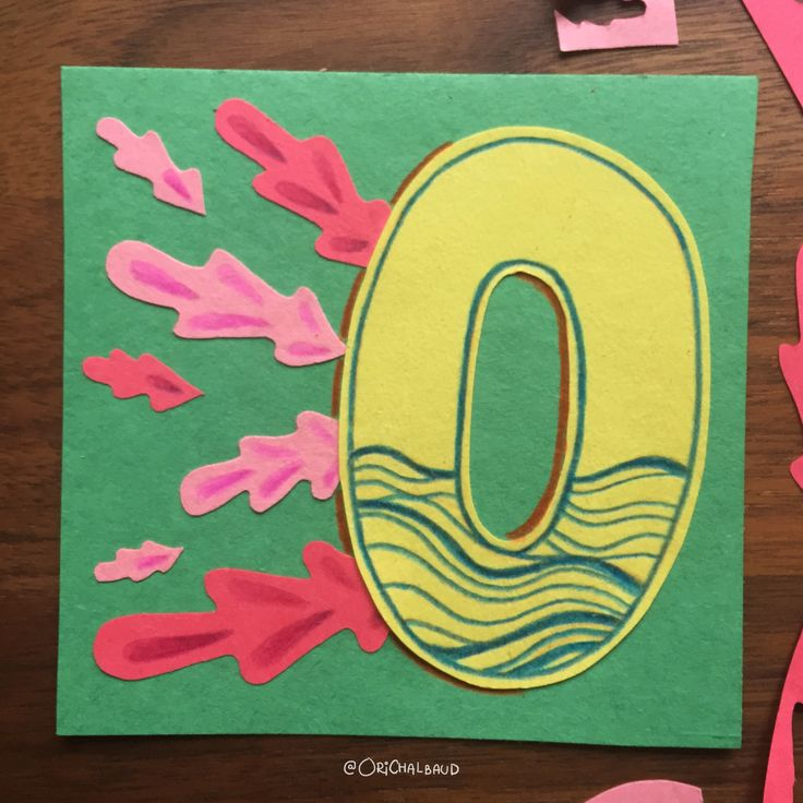 Letter O!. This is part of a paper art type I'm making for 36 days of type and also part of my 100 days project about paper art! :)