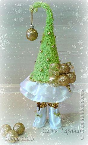 Бонсай топиарий Новый год Рождество Моделирование конструирование Елочки Бусины Кофе Кружево Шпагат фото 10