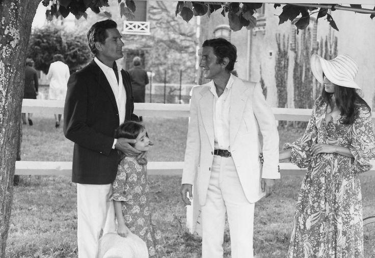 """Georges Marchal, Maurice Garrel e Claire Vernet in """"Faustine et le bel été"""" (1972) di Nina Companeez (""""Collection Gérard Troussier"""" / Cinemagence, 1964-1994)"""