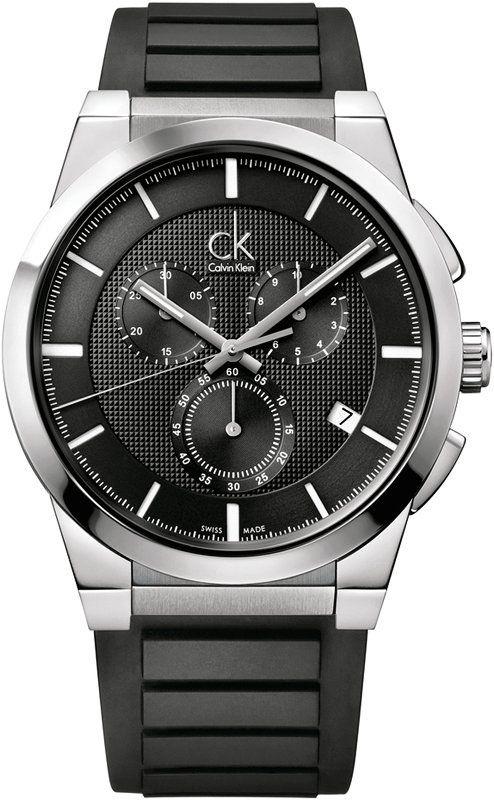 8e04f2be7a4d3 Мужские швейцарские наручные часы Calvin Klein K2S371D1 с хронографом