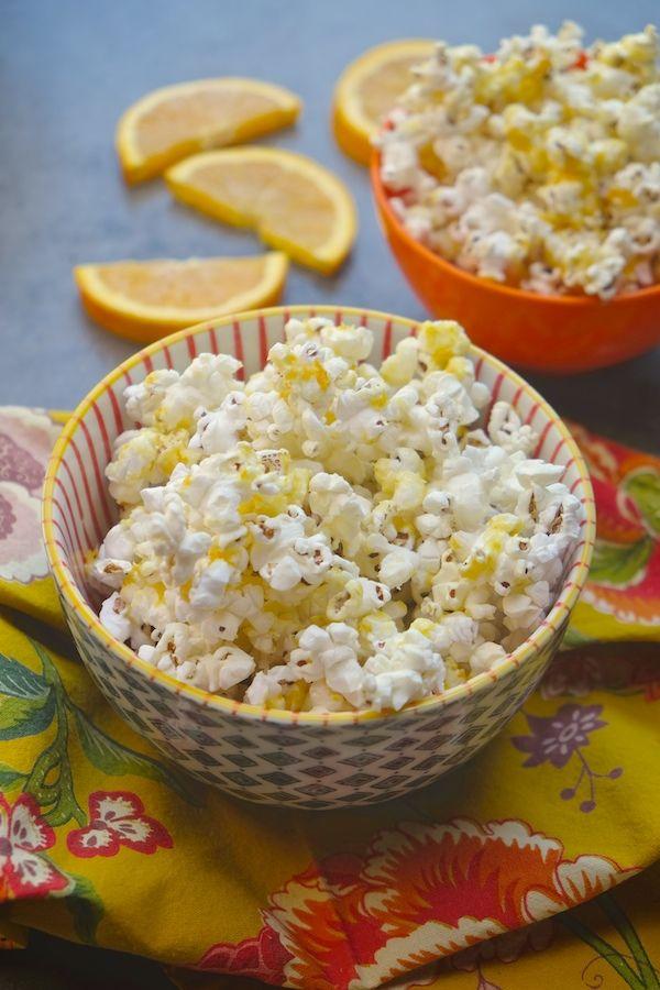 Orange Creamsicle Popcorn from @shutterbean
