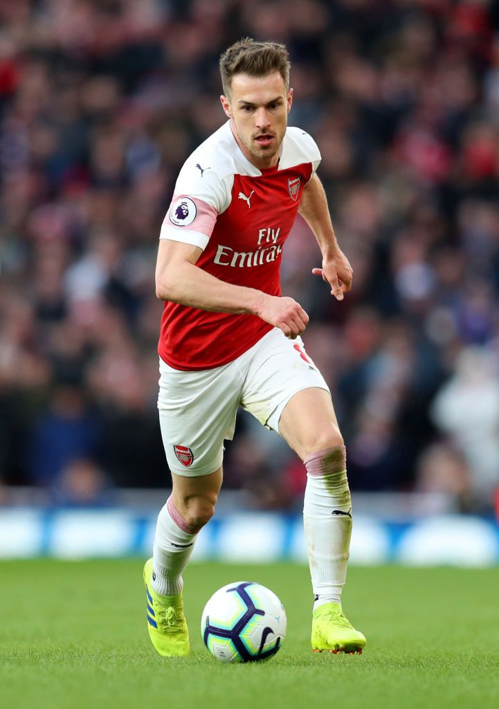 Aaron Ramsey Of Arsenal During The Premier League Match Between Premier League Matches Premier League Premier League Football