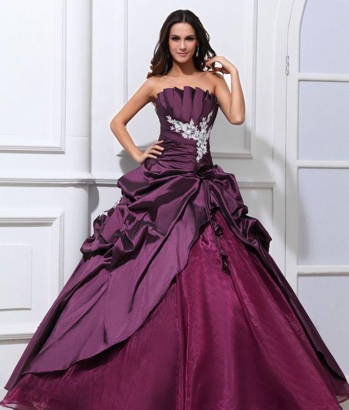 свадебное платье из тафты и органзы