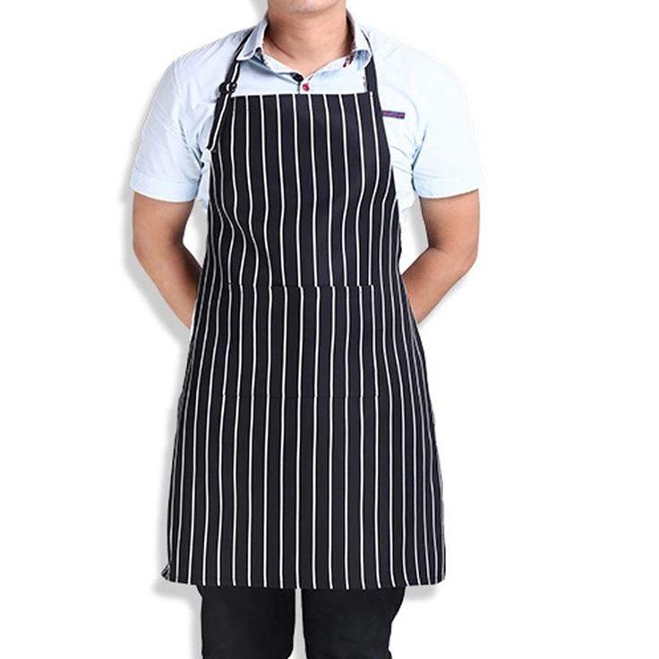 Chaude Bande Réglable Bib Tablier avec 2 Poches Chef Serveur Cuisine Cuire Nouvel Outil Cuisine Tablier Livraison Gratuite et Vente En Gros