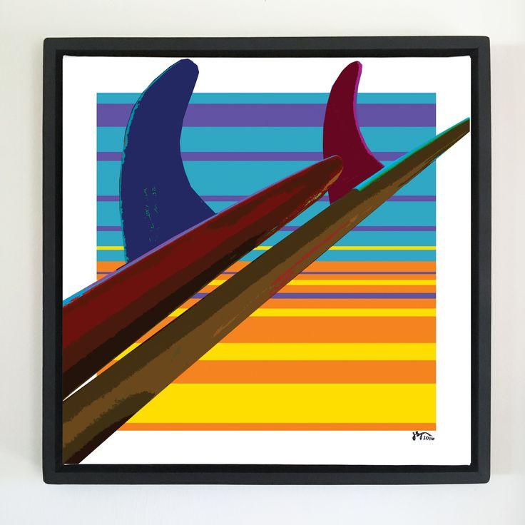"Overflow series: ""Chair"" art. 24 x 24 inch, digital art & gloss and matte gel on stretched canvas. 26.5 x 26.5 inch, float frame - black flat. ---------------------------------------- #popart #popartist #digitalart #art #artist #contemporaryart #colorfield #abstractart #gloss #matte #art #canvas #surf #surfer #surfing #singlefin #surflife #sunset #sunruse #jonsavagegallery"