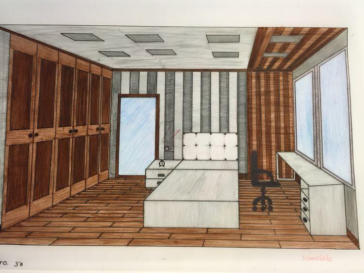 Las 25 mejores ideas sobre perspectiva frontal en pinterest y m s paredes de bordes de - Habitacion en perspectiva conica ...