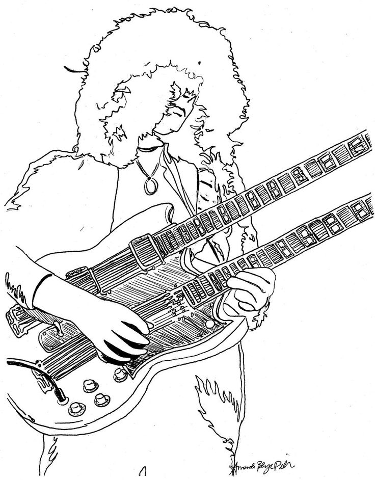 jimmy page coloring page by amandadelonge deviantart com