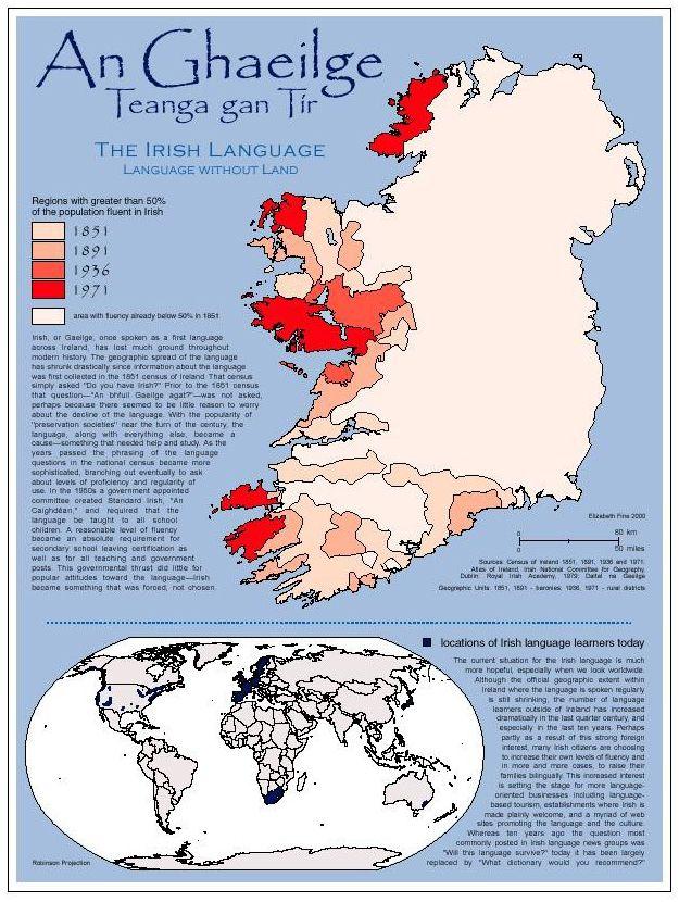Best Gaeilge Mo Ghrá Images On Pinterest Irish Irish - Irish language map