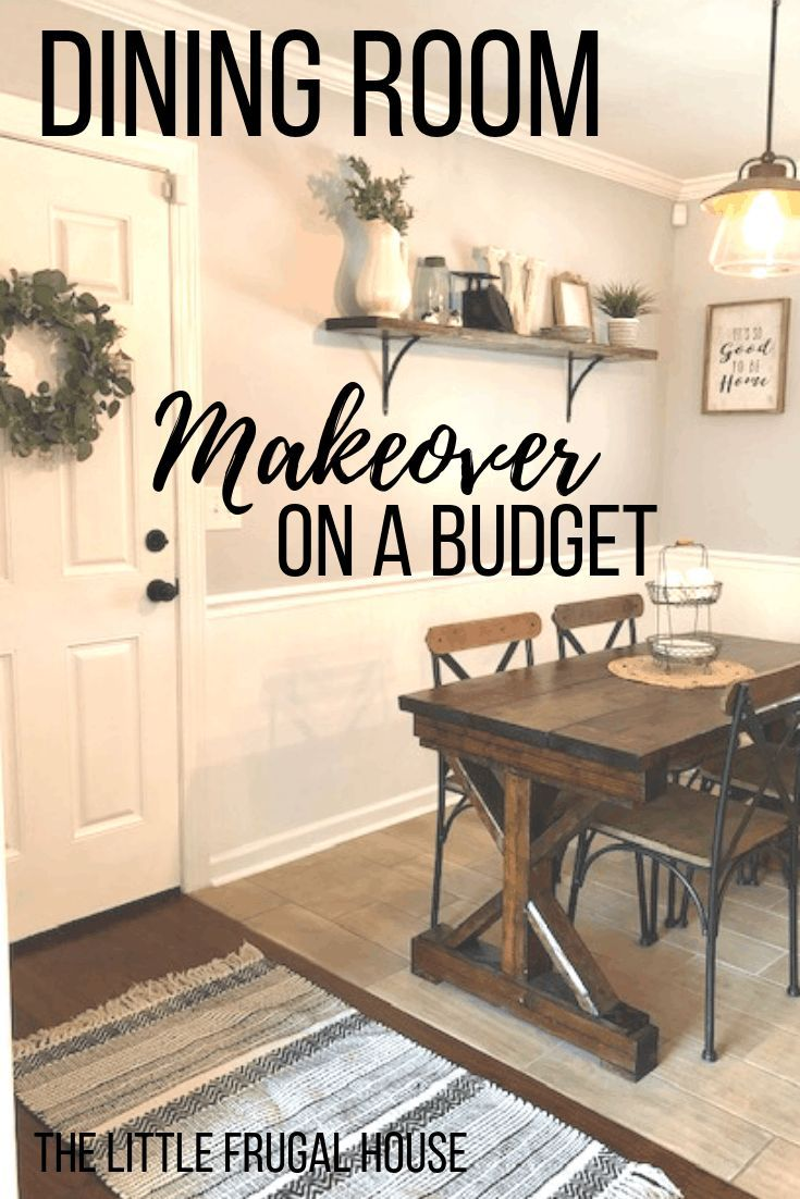 Diy Dining Room Makeover On A Budget The Little Frugal House Dining Room Makeover Small Dining Room Decor Apartment Dining Room
