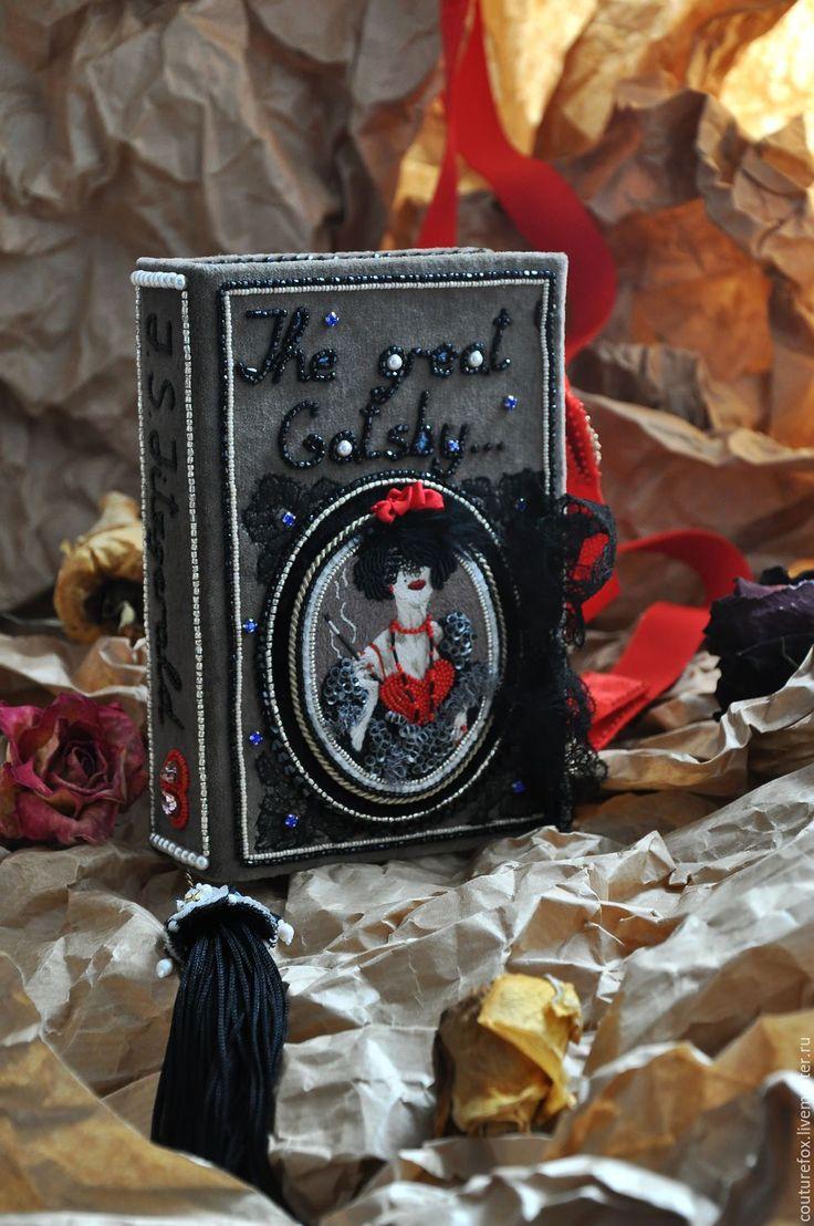 """Купить Клатч-книга """"Великий Гэтсби"""" - клатч-книга, клатч-бокс, арт-сумка"""
